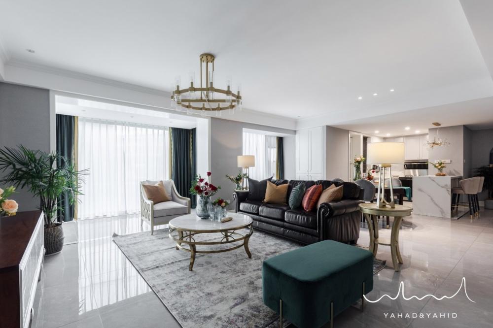 Brooklyn之梦雅致简美三口之家客厅美式经典客厅设计图片赏析