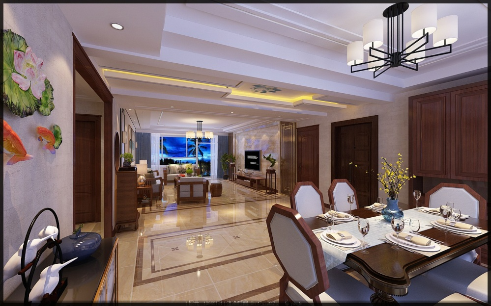 枣庄城市人家峄城水发颐和园装修效果图厨房2图餐厅设计图片赏析