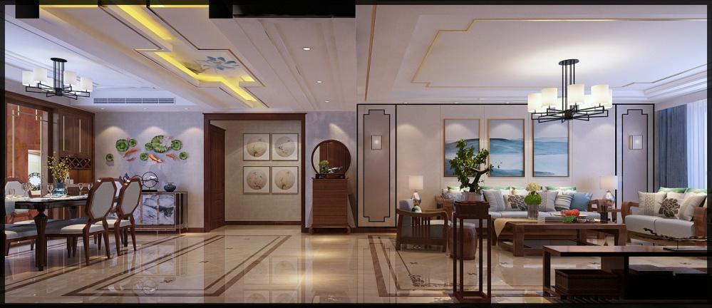枣庄城市人家峄城水发颐和园装修效果图客厅3图客厅设计图片赏析