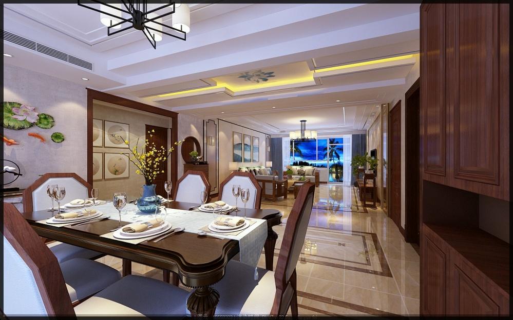 枣庄城市人家峄城水发颐和园装修效果图厨房1图餐厅设计图片赏析