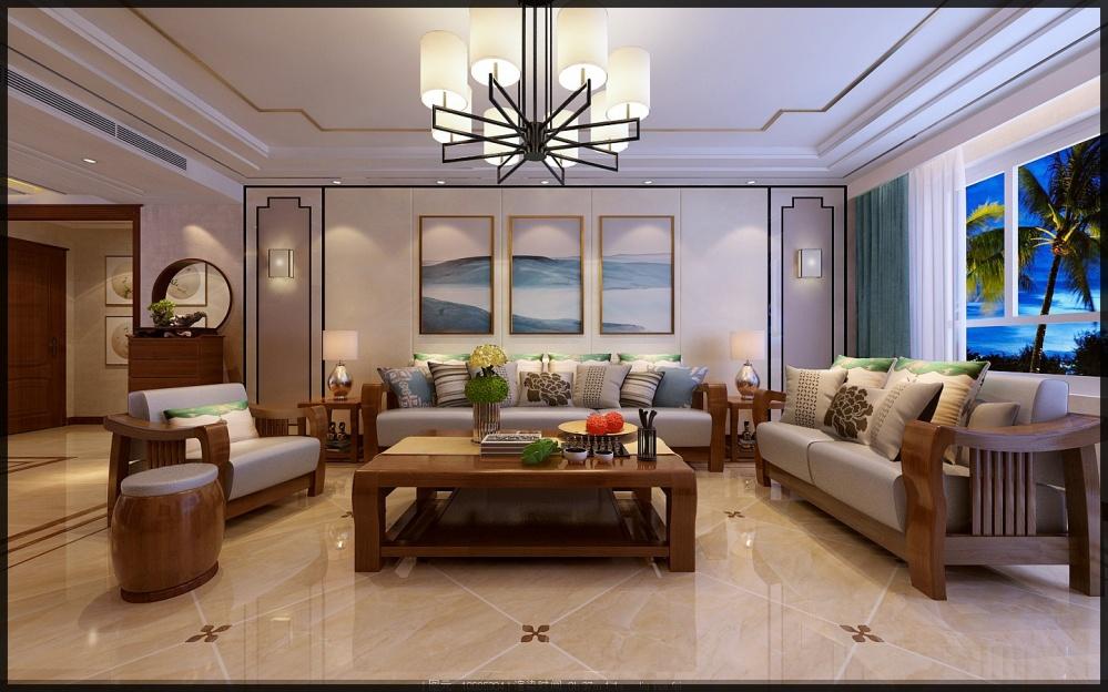 枣庄城市人家峄城水发颐和园装修效果图客厅1图客厅设计图片赏析