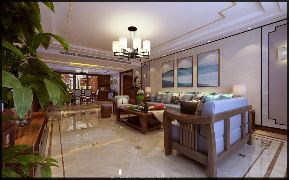 枣庄城市人家峄城水发颐和园装修效果图客厅2图客厅设计图片赏析