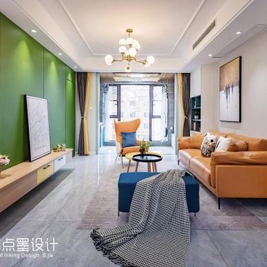 云端点墨设计丨 - 悦然奇城(实景)——客厅图片