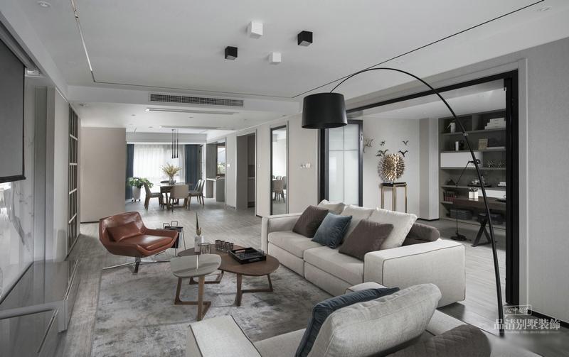 无锡别墅装修栖霞栖园现代客厅现代简约客厅设计图片赏析
