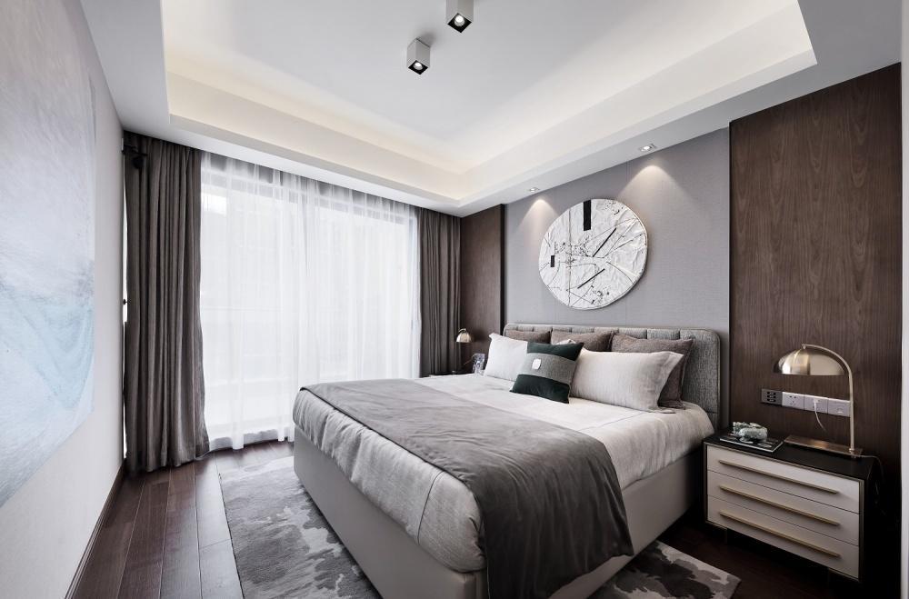 点石亚洲|星河山海湾洋房样板间卧室1图中式现代卧室设计图片赏析