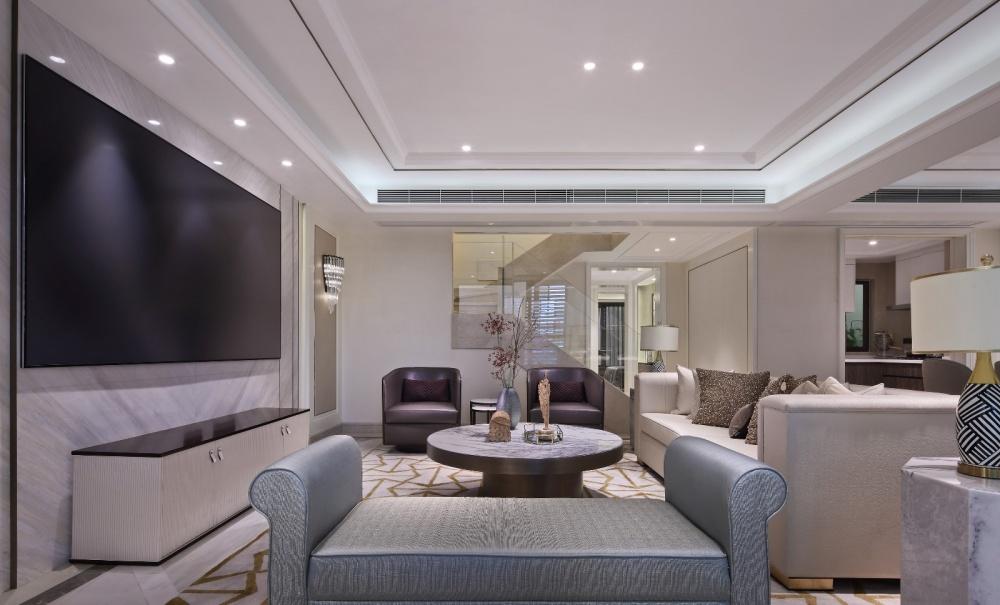 点石亚洲摩登港风,经典精致客厅潮流混搭客厅设计图片赏析