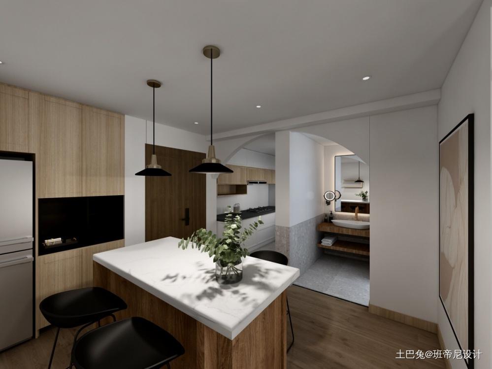 静谧厨房北欧极简餐厅设计图片赏析