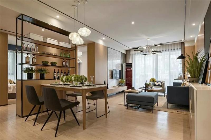【枣庄恒大御府】108㎡安静与祥和厨房现代简约餐厅设计图片赏析