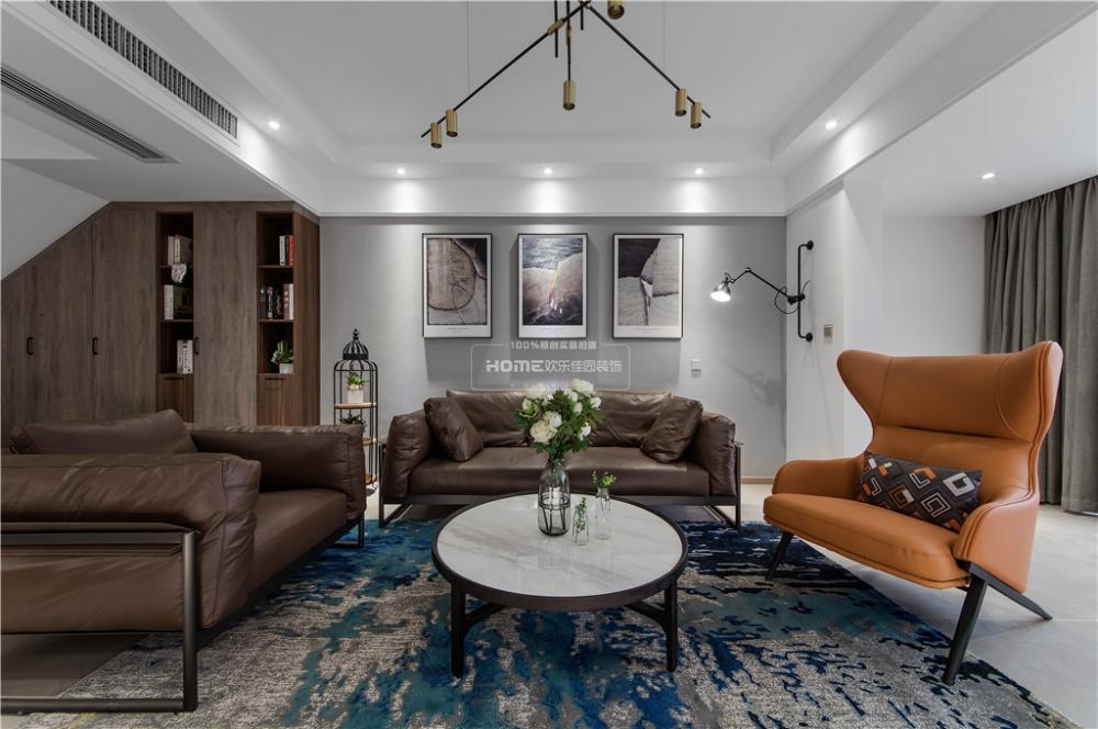 欢乐佳园|现代简约复式楼,空间改造很实用客厅现代简约客厅设计图片赏析