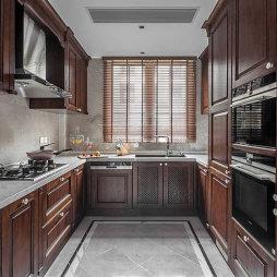 西溪明珠600平美式风格——厨房图片