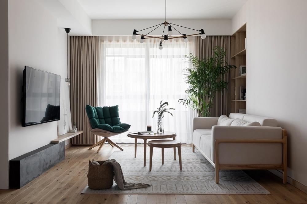 子洋设计丨消失的雨天日系客厅日式客厅设计图片赏析