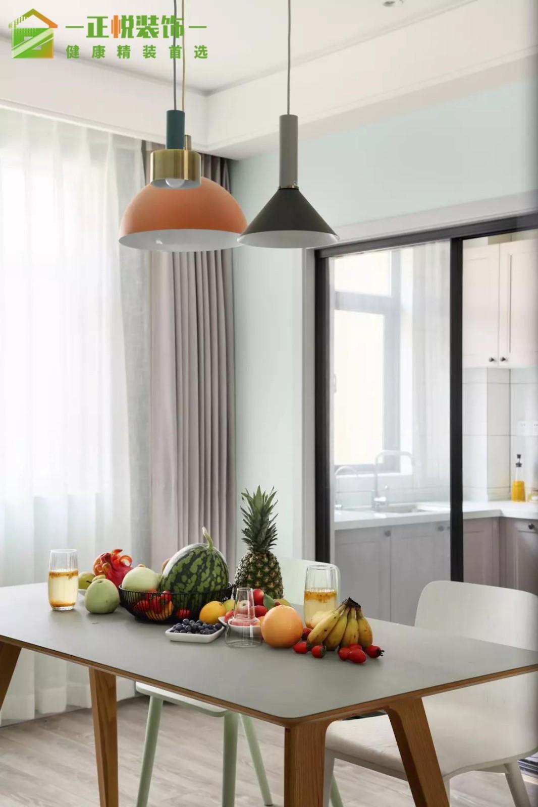 烟台正悦装饰|这个蹲便式马桶我喜欢!厨房窗帘北欧极简餐厅设计图片赏析
