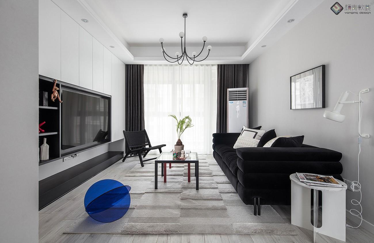 谁说黑白灰色系不可以打造出梦幻温馨的家客厅现代简约客厅设计图片赏析