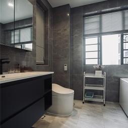 壹城中心135平,黑白灰演绎简约家装美学——卫生间图片