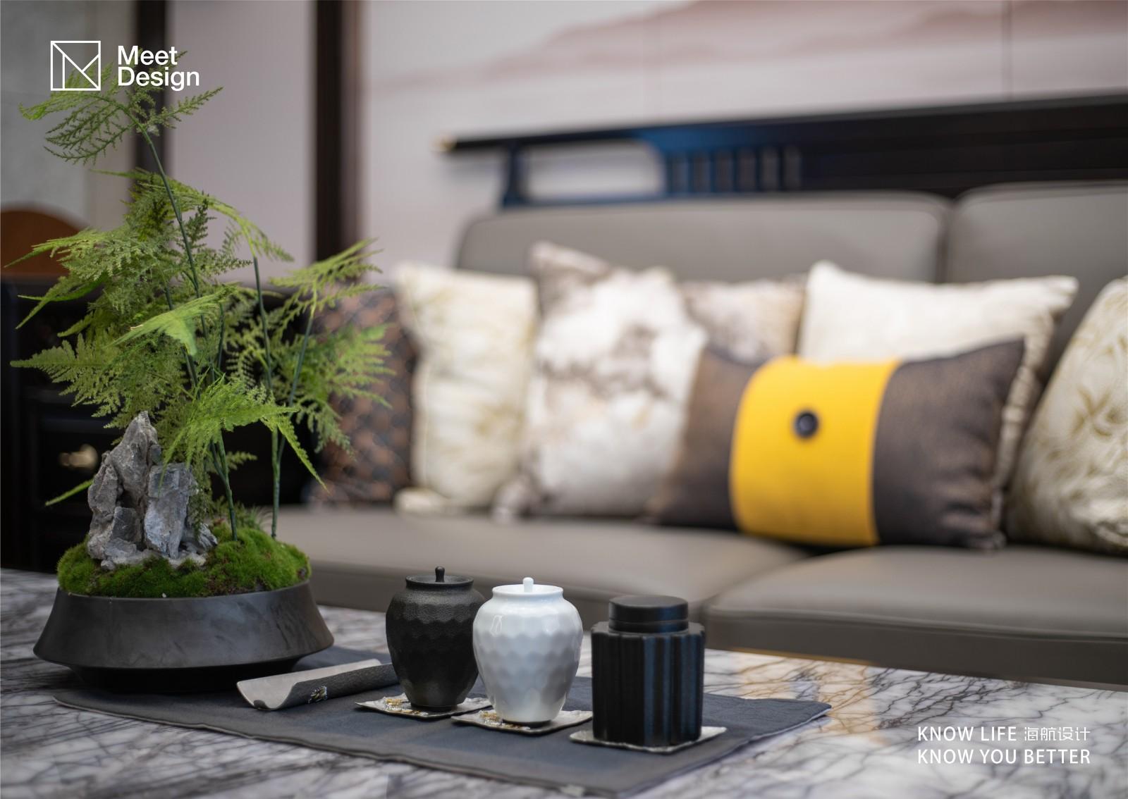 """品""""新中""""风骨,享悠然人生客厅中式现代客厅设计图片赏析"""