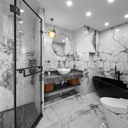 空间/展开 125m²现代新宅——卫生间图片