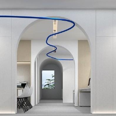 超美!辦公室里竟然有這樣一條拱形門洞長廊