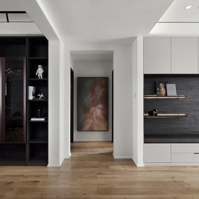 深白设计|黑白缄默,优雅的气质空间