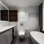 深白设计|黑白缄默,优雅的气质空间——卫生间图片