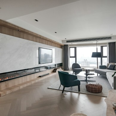 260平现代简约——客厅图片