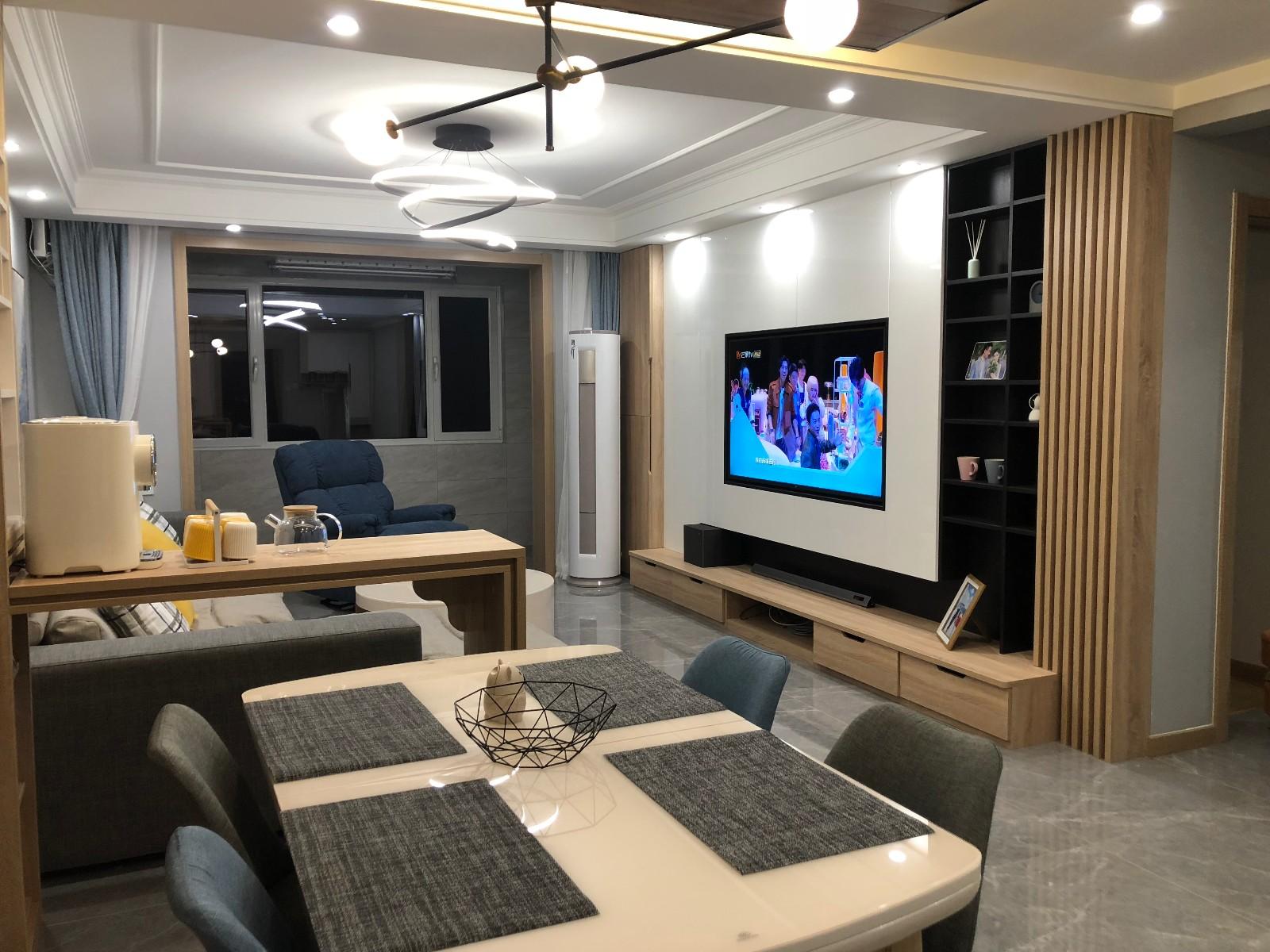 现代风格案例(承德市自然城)客厅现代简约客厅设计图片赏析