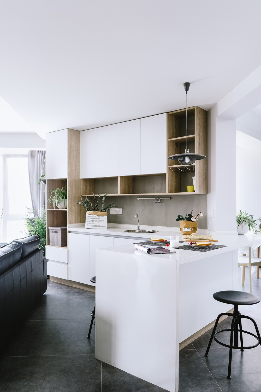 超大西厨+中厨|让我爱上烘培厨房北欧极简餐厅设计图片赏析