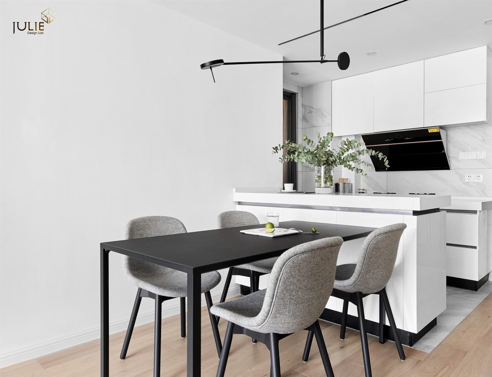 Ramble|软装总得带点绿厨房1图现代简约餐厅设计图片赏析