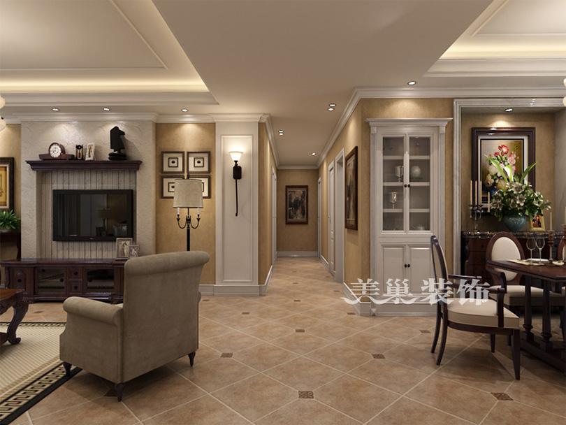郑州帝华宏府装修117平三室两厅简欧风格玄关欧式豪华玄关设计图片赏析