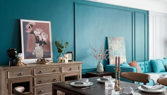 美式厚重与中式古朴混搭,呈现温文尔雅的家