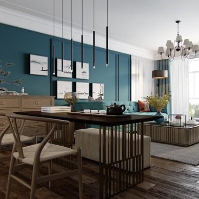 美式厚重與中式古樸混搭,呈現溫文爾雅的家_3903648