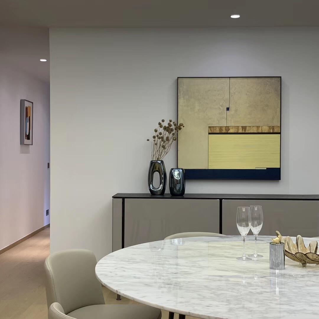 平层私宅设计厨房现代简约餐厅设计图片赏析