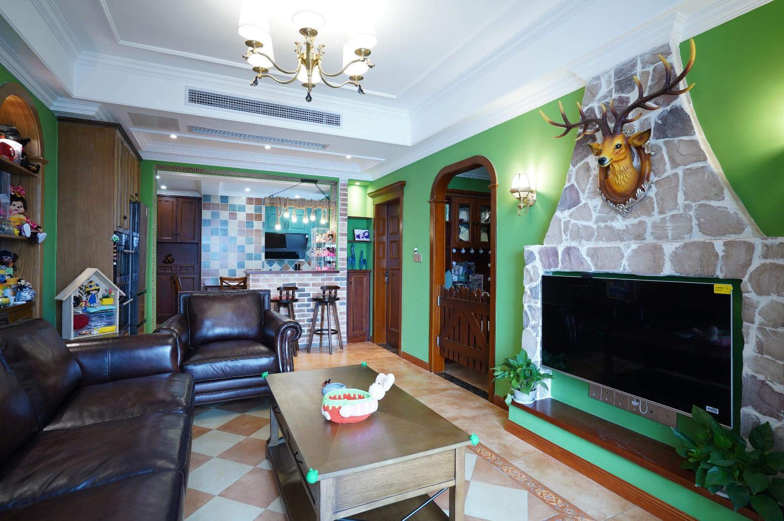 第二步:请为图片添加描述客厅美式经典客厅设计图片赏析