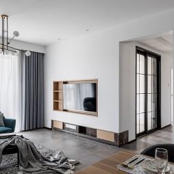 88㎡现代简约——客厅图片