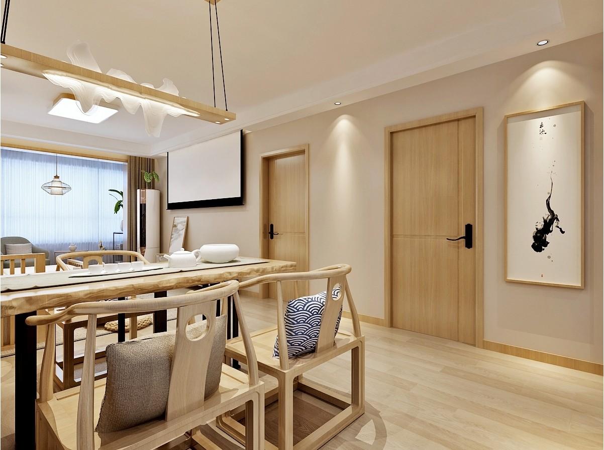 济南绿地新里城日式风格客厅日式客厅设计图片赏析