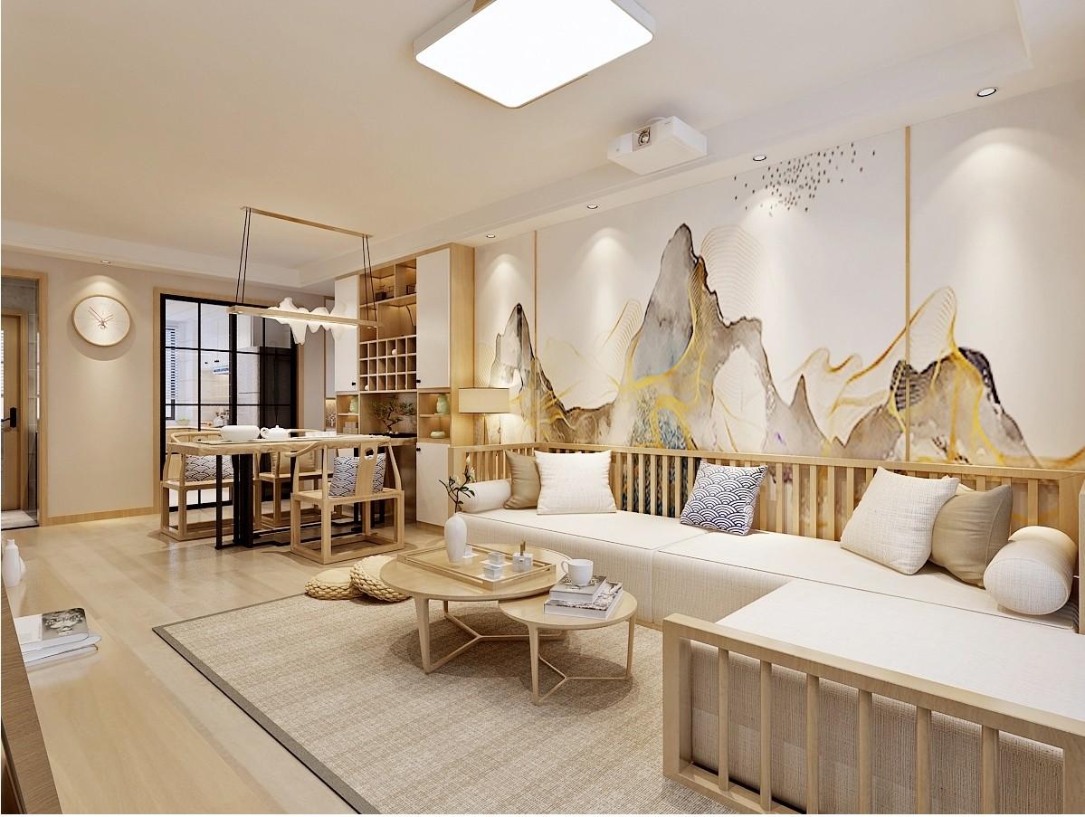 济南绿地新里城日式风格客厅1图日式客厅设计图片赏析