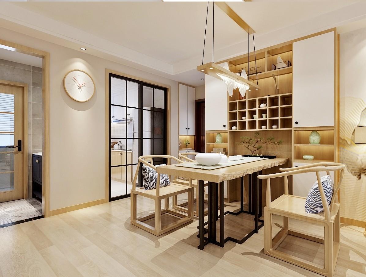 济南绿地新里城日式风格厨房日式餐厅设计图片赏析