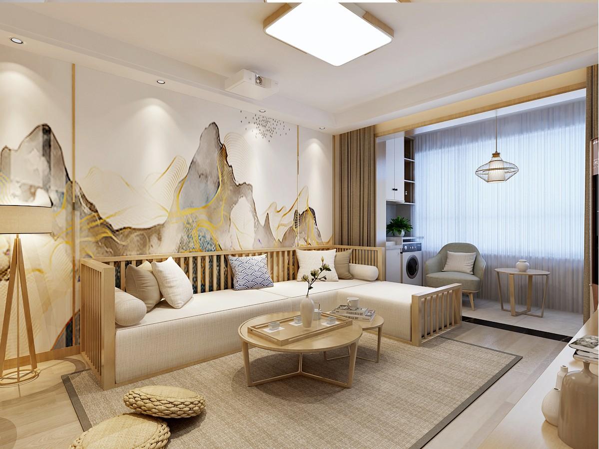 济南绿地新里城日式风格客厅2图日式客厅设计图片赏析