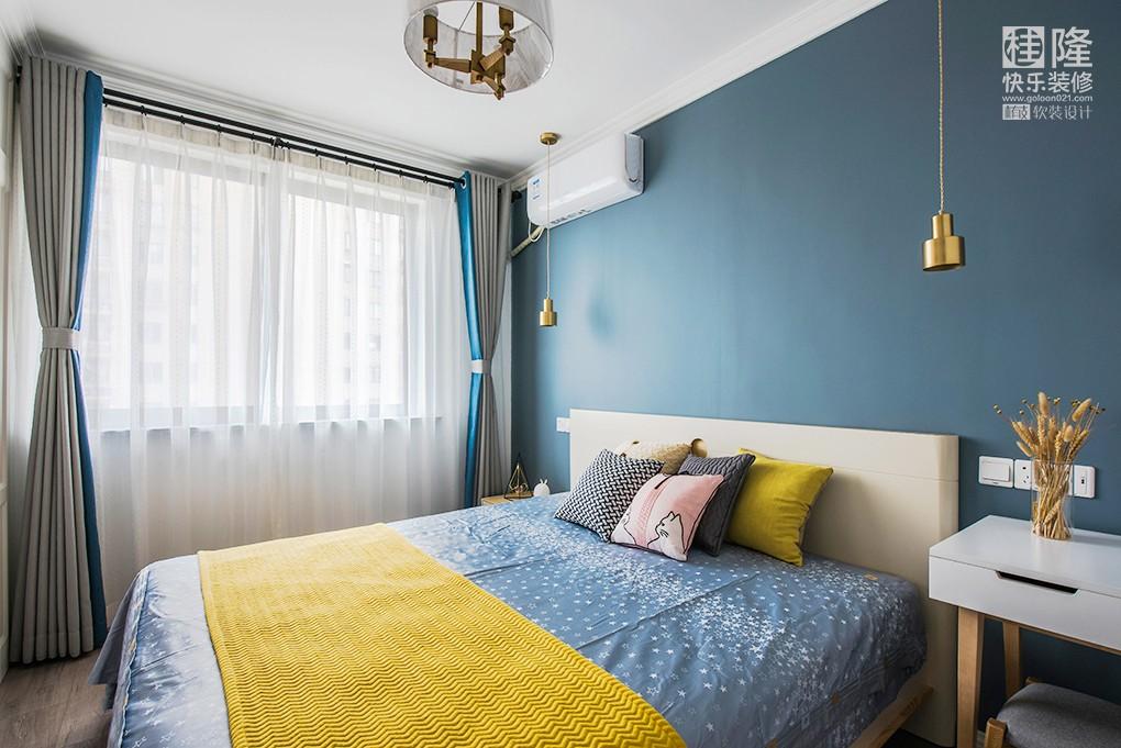 90㎡北欧风二居室,诗意地栖居!卧室北欧极简卧室设计图片赏析