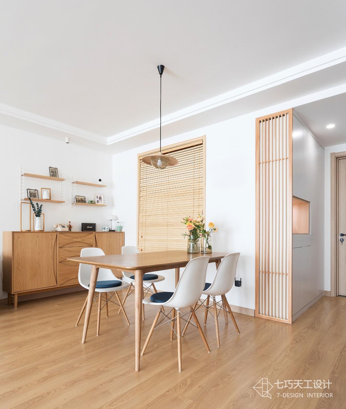 124m²极简muji风公寓厨房日式餐厅设计图片赏析