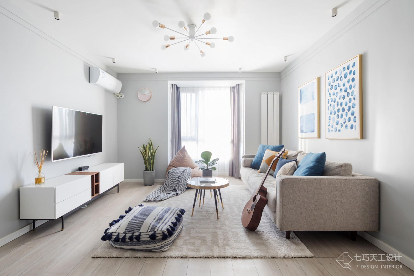 第二步:请为图片添加描述客厅北欧极简客厅设计图片赏析