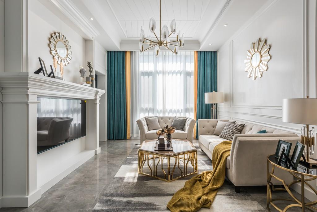 《温日暖阳》美式轻奢风,恰到好处的精致!客厅其他客厅设计图片赏析