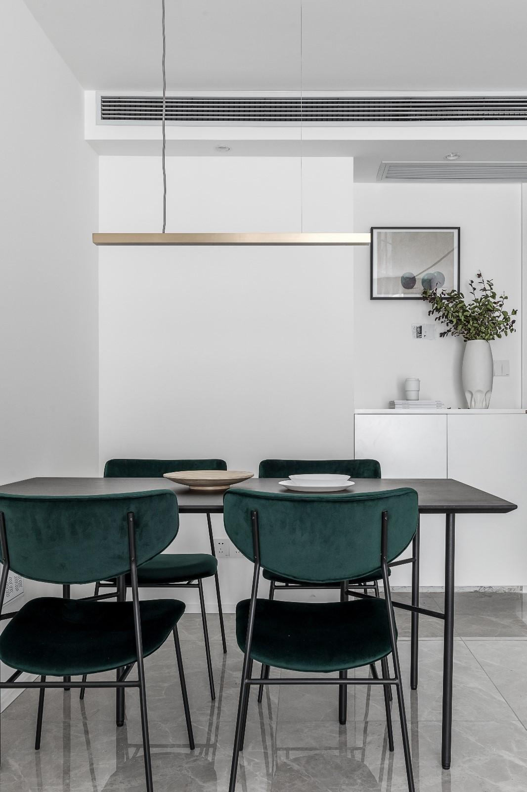 清新日光居、三口之家厨房1图北欧极简餐厅设计图片赏析