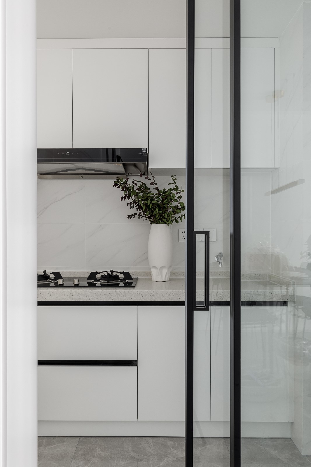 清新日光居、三口之家餐厅北欧极简厨房设计图片赏析