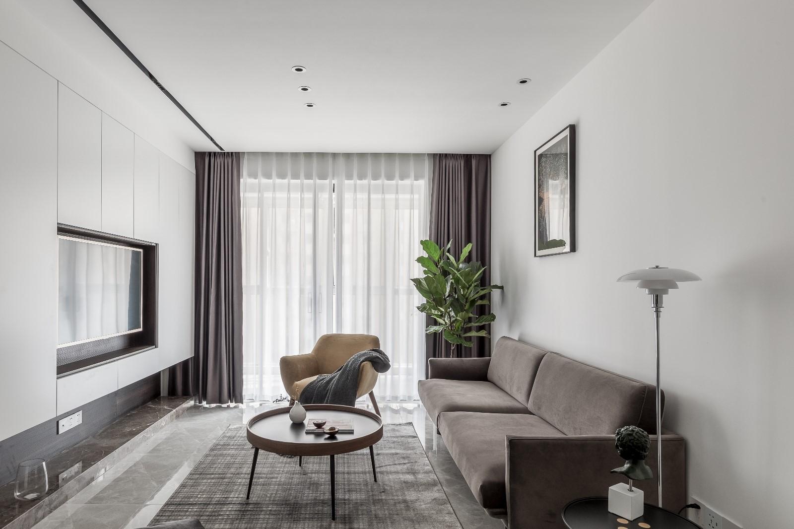 清新日光居、三口之家客厅北欧极简客厅设计图片赏析