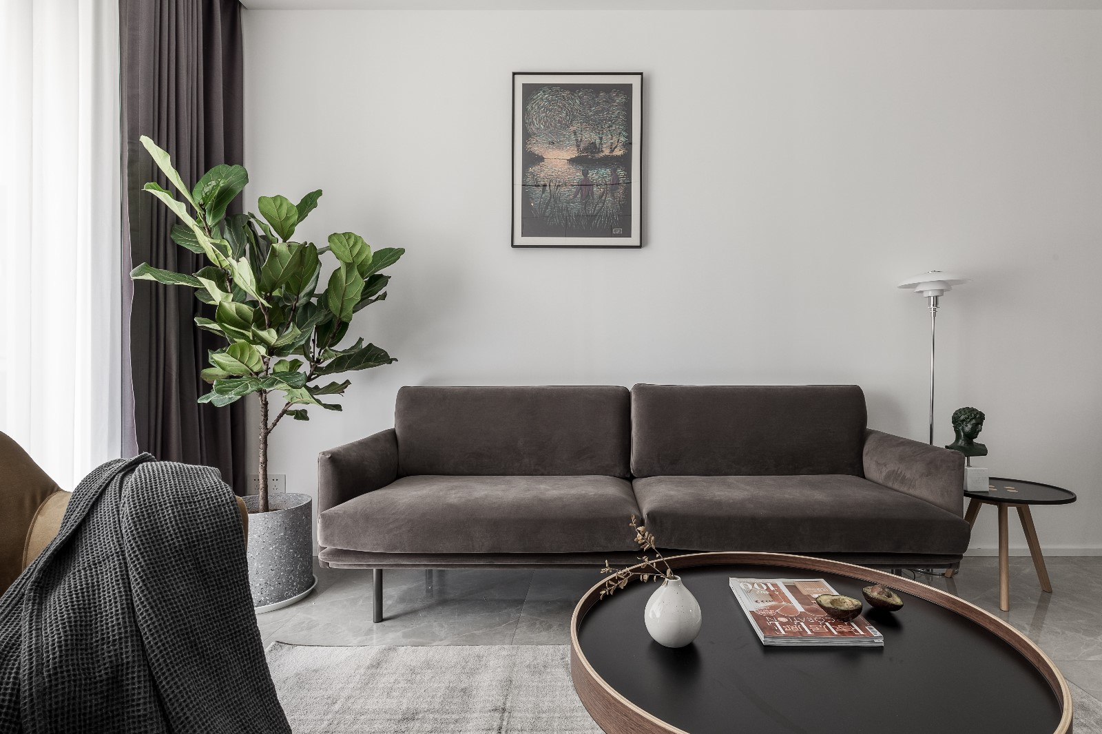 清新日光居、三口之家客厅3图北欧极简客厅设计图片赏析