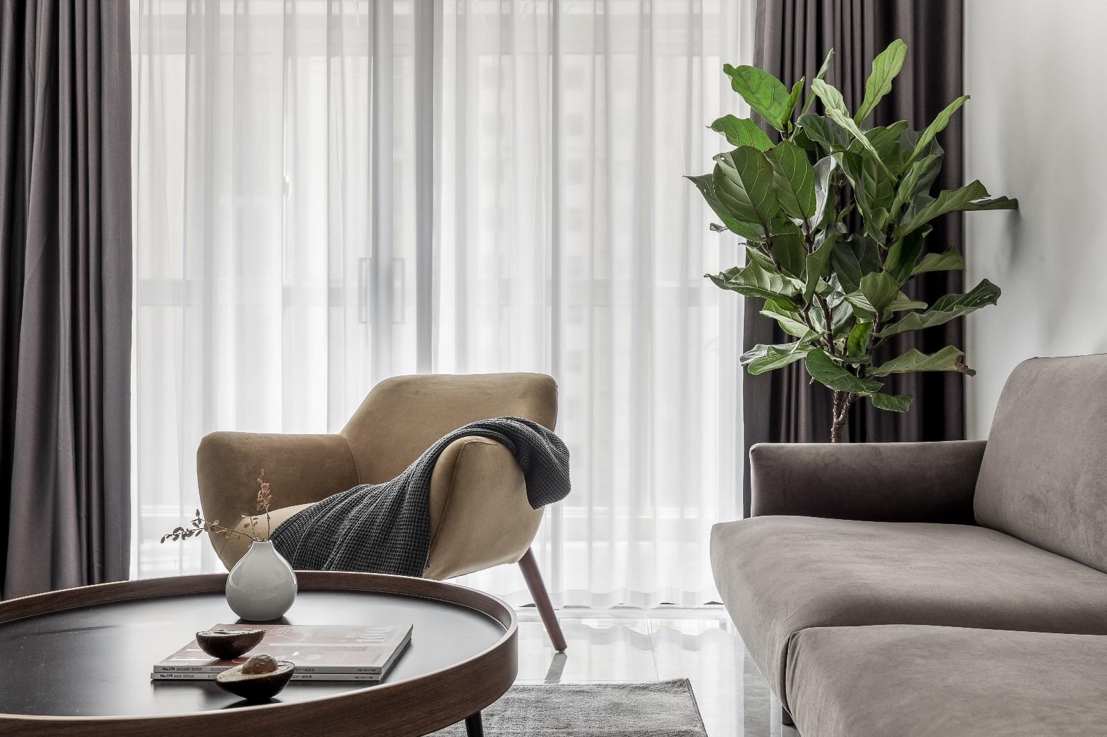清新日光居、三口之家客厅4图北欧极简客厅设计图片赏析