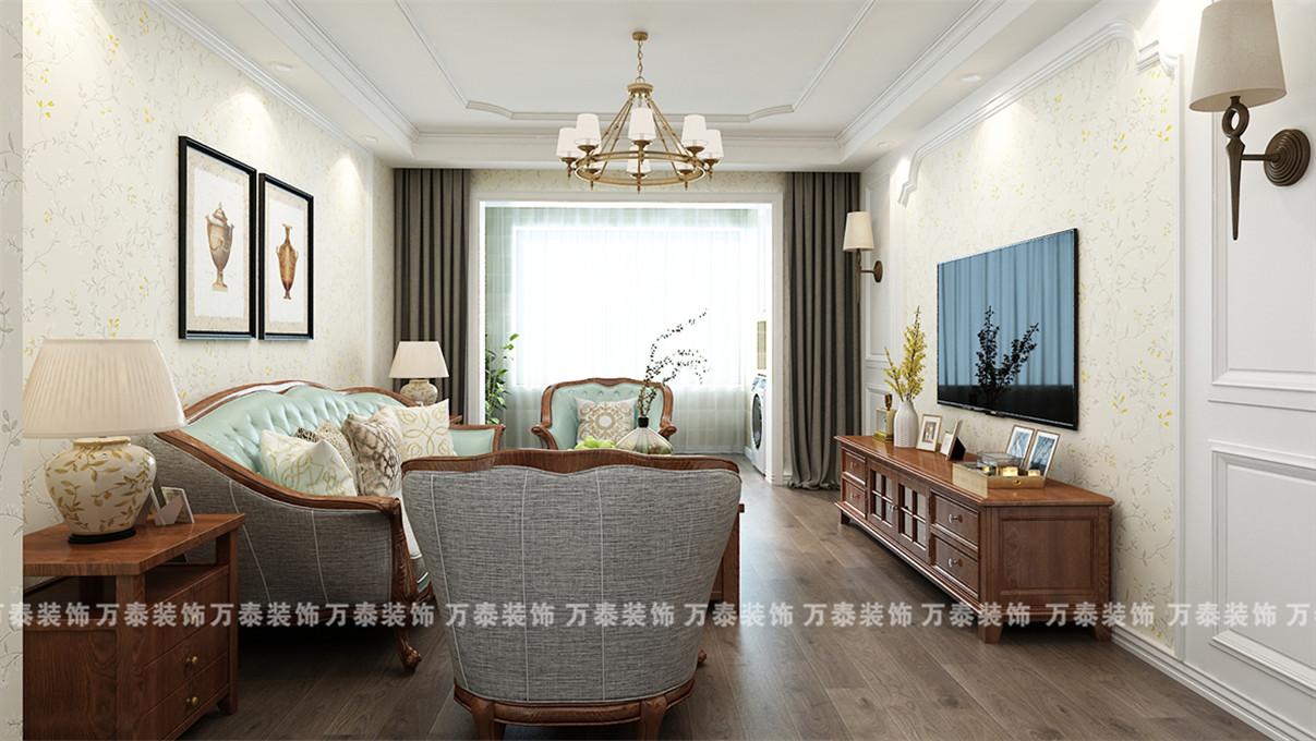 济南室内装修凤凰国际简欧风格案例分享客厅北欧极简客厅设计图片赏析