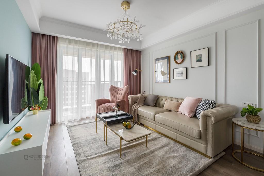 康桥融府75平现代北欧风格装修客厅现代简约客厅设计图片赏析