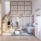日式小LOFT——客厅图片