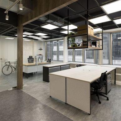 办公室装修,看看这套黑色办公室装修设计图_3917728
